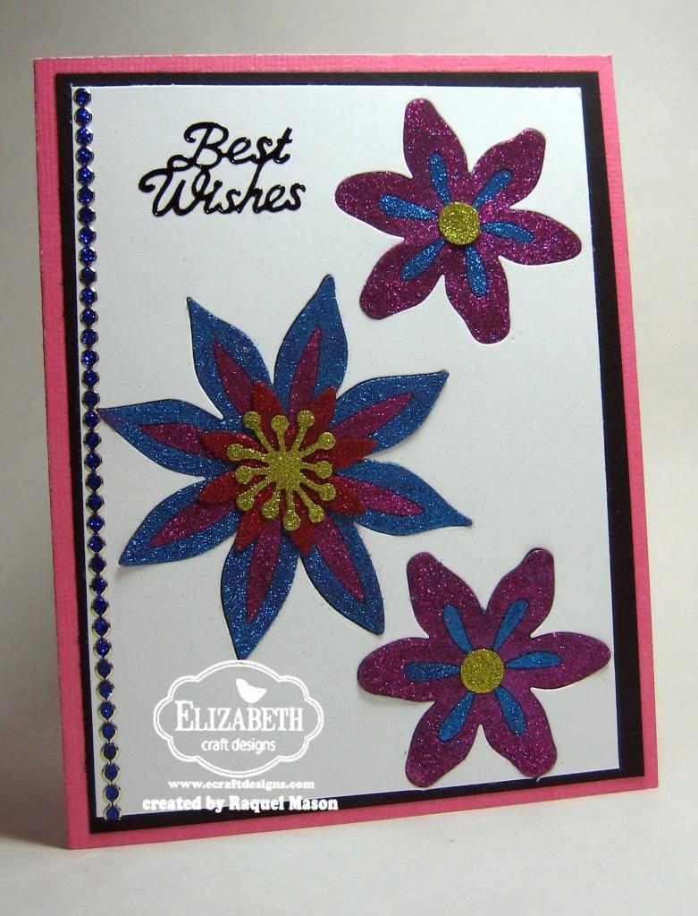 Glitter inlay flowers for Elizabeth craft microfine glitter