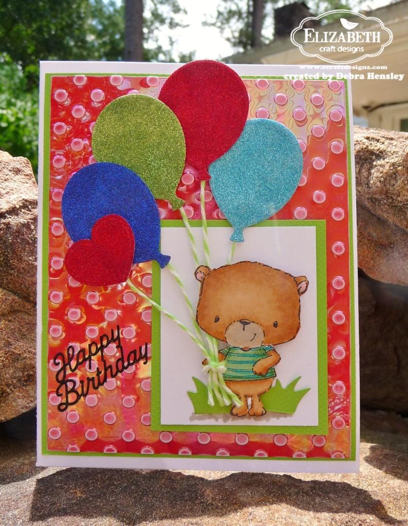Glittery birthday balloons for Elizabeth craft microfine glitter