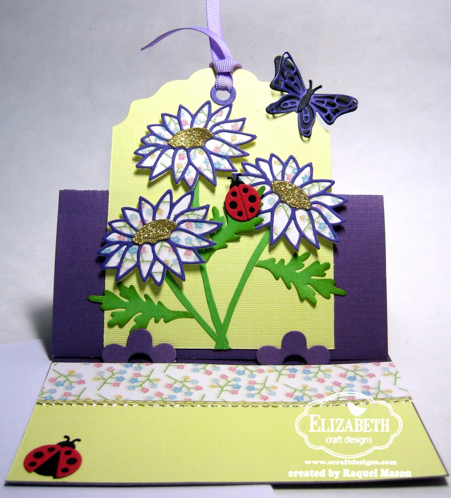 elizabeth craft designs march designers challenge flower power. Black Bedroom Furniture Sets. Home Design Ideas