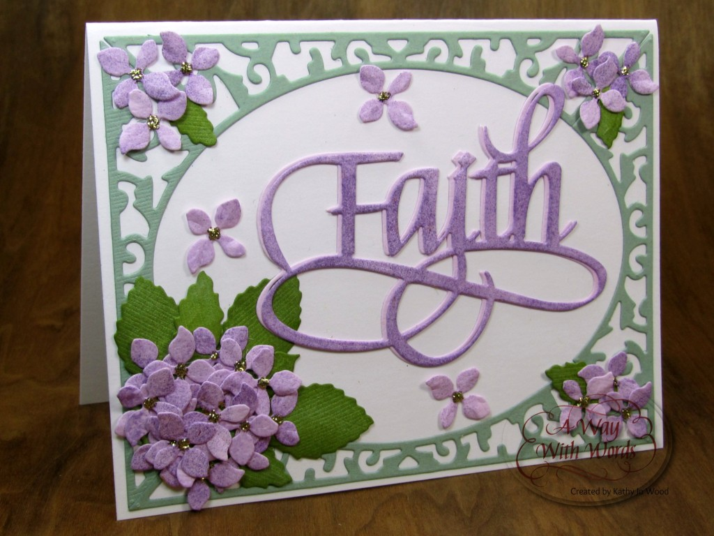 faith hydrangea card