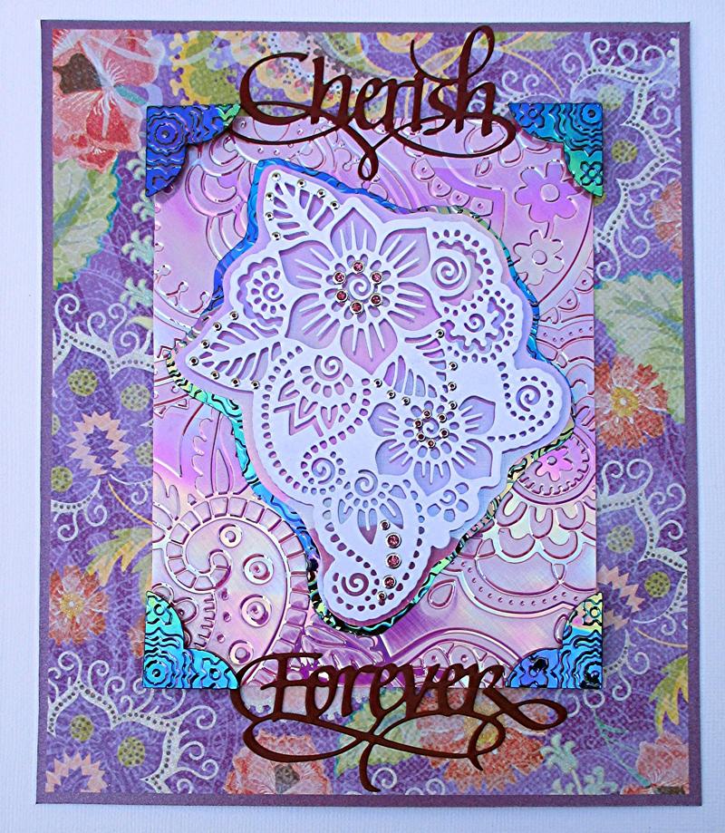 Cherish forever for Elizabeth craft designs glitter